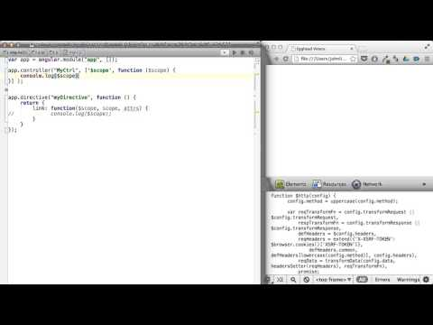 Egghead.io - AngularJS - $scope vs. scope