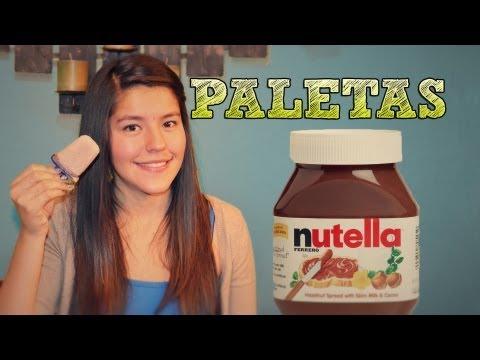 Paletas de Nutella FACIL | ¿Como hacer paletas de hielo? | Paletas de chocolate caseras