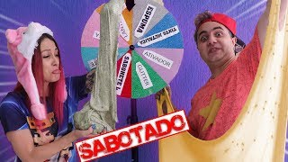 DESAFIO DA ROLETA MISTERIOSA DE SLIME SABOTADO #3 ( MYSTERY WHEEL OF SLIME )