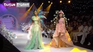 Mâu Thủy đi catwalk với Hoa hậu hoàn vũ nhí Lan Vy trong trang phục lạ mắt