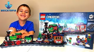 LEGO Train | LEGO Train 10254 Winter Holiday Train Set Speed Build