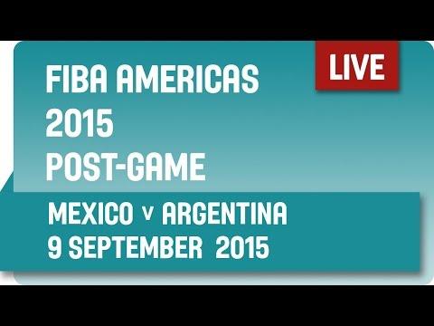 Post-Game: Mexico v Argentina - Second Round -  2015 FIBA Americas Championship