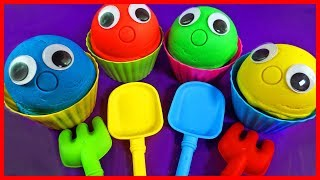 Play Doh Ice Cream Cups Learn Colors Chupa Chups Peppa Pig PJ Masks Kinder Surprise Eggs