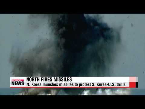 N. Korea fires 5 missiles off east coast   북 동해로 단거리 미사일 5발 발사