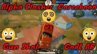 Alpha Clasher + Gareebooo vs GunShot + GodL AB || Amazing Fight Ever || PUBG Mobile Highlights HD