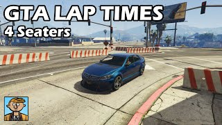 Fastest 4 Seaters (2019) - GTA 5 Best Fully Upgraded Cars Lap Time Countdown