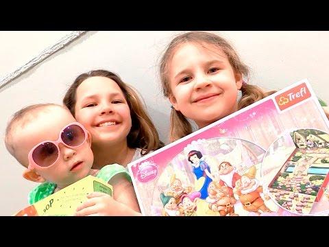 Видео для девочек. Игра Белоснежка и гномы.