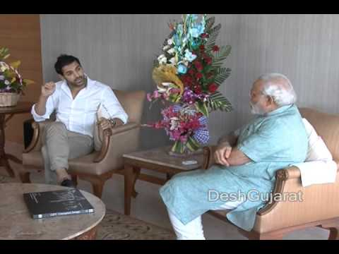 Bollywood star John Abraham meets Narendra Modi in Gujarat capital