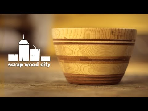 Making a wooden bowl out of scrap wood