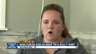 Mom forces son to wear 'I'm a bully' shirt