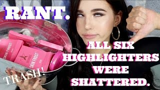 ALL SIX OF MY JEFFREE STAR HIGHLIGHTERS WERE SHATTERED | FAKEUP SERIES | Jordan Byers