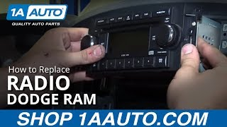 How to Remove Reinstall Radio 2008 Dodge Ram 1500 BUY QUALITY AUTO PARTS AT 1AAUTO.COM