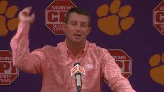 TigerNet: : Dabo Swinney pre Louisville part two
