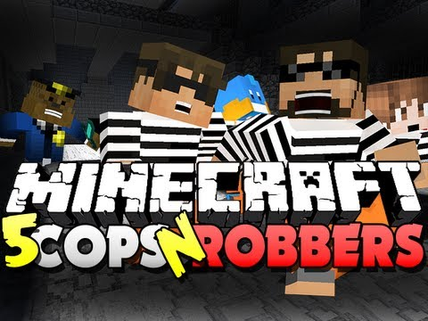 Minecraft Cops and Robbers 5 - YOU NEED TO BE FREE!! (SkyDoesMinecraft. Mitch and Friends)