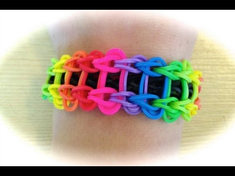 rainbow loom leiterarmband deutsche anleitung youtube. Black Bedroom Furniture Sets. Home Design Ideas