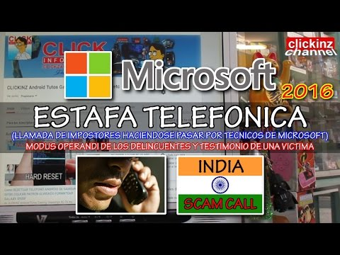 ESTAFA Telefónica MICROSOFT INDIA HINDUS hablando INGLES EXPLICACION+TESTIMONIO VICTIMA FRAUDE 2016