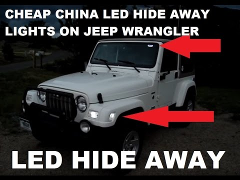 led hide away lights and cheap ebay china 6x22 white led lights on my wrangler tj