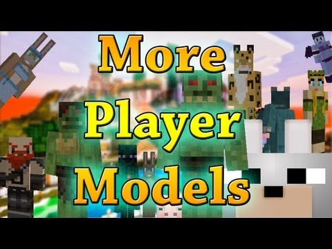 Minecraft Mods - More Player Models 1.4.2 Review and Tutorial