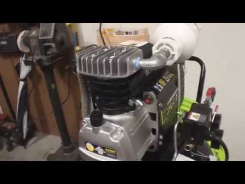 Central Pneumatic 21 Gallon Vertical Air Compressor From Harbor Freight