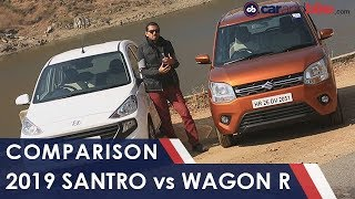 Maruti Suzuki Wagon R Vs Hyundai Santro | NDTV carandbike