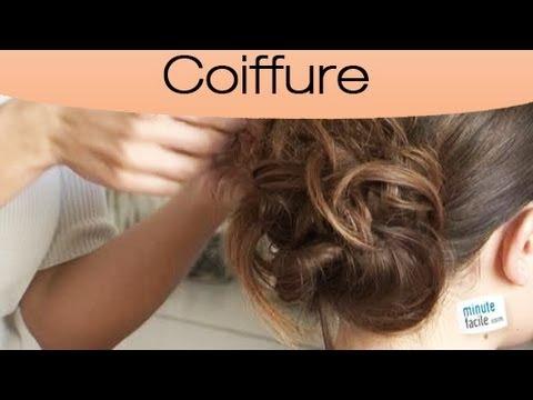 Coiffure : Comment faire un chignon bohème - YouTube