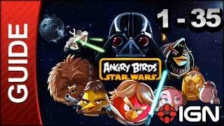 Angry Birds Star Wars_ Tatooine Level 1-35 3 Star Walkthrough