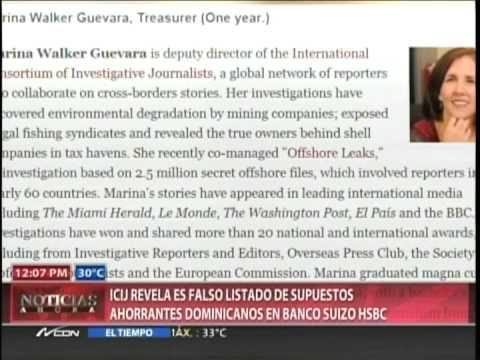 ICIJ revela es falso listado de supuestos ahorrantes dominicanos en Banco Suizo HSBC