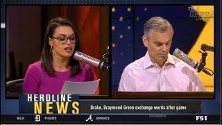 The HERD | Colin Cowherd & Joy Taylor react to Drake, Draymond Green exchange words after game