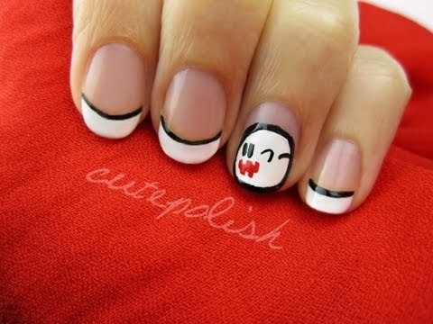 Ghost Boo Nails (from Mario!)