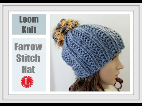 Loom Knitting.. Creating Extra Stitches For A Slouchy Tam Hat How To Make &...