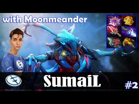 SumaiL - Weaver Safelane | with Moonmeander (Omniknight) | Dota 2 Pro MMR Gameplay #2