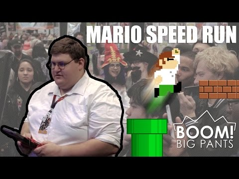 Real Life Peter Griffin Speed Runs Super Mario | Boom! Big Pants video