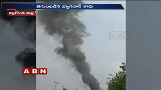 Car catches blaze at Nalgonda district