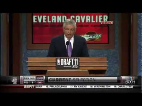 Kyrie Irving Gets Drafted #1 Overall By The Cleveland Cavaliers-2011 NBA Draft (HD)