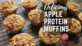 Healthy Apple Oatmeal Muffins Recipe With Protein Powder