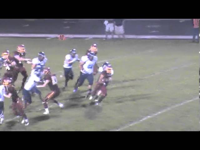 9-20-13 - Mikey Gutierrez scampers 80 yards for a touchdown (Brush 20, Platte Valley 10)
