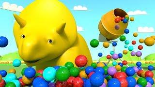 Aprender los colores y los números con Dino y Ethan - Dibujos Animados Educativos - LIVE