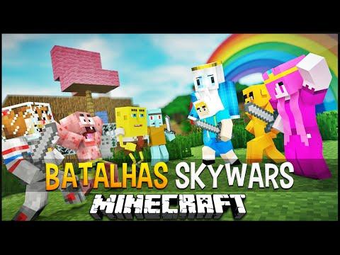 Minecraft: Hora da Aventura vs Bob Esponja Batalhas SkyWars