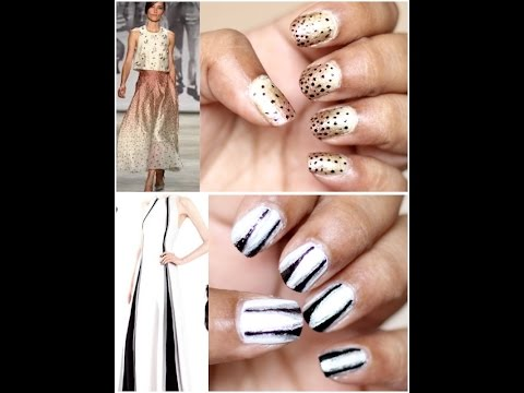 Easy Runway Inspired Nail Art Designs