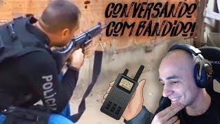 POLICIAL NO RÁDIO COM O BANDIDO E TROCA DE TIRO - REAGINDO A VÍDEOS POLICIAIS #06