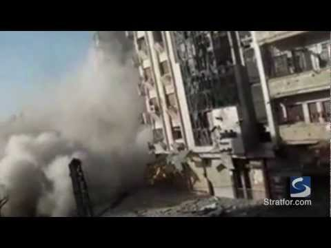 Syrian military reportedly shells Homs (raw footage)