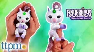 Fingerlings Light Up Glitter Unicorn Mackenzie - Interactive Collectible Toys from WowWee