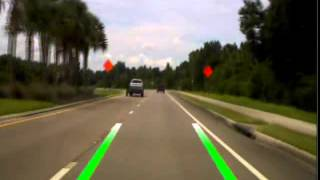 Advent LDWS100 Lane Departure / Collision Warning / DVR Callibration and Operation Video