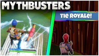Can You TIE A Game In Fortnite Battle Royale? | Impulse Grenade On Launchpad | Mythbusters [10]