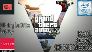 Grand Theft Auto 5 on ALL PRESETS | i5 7200u + Amd Radeon 520 2gb + 8gb Ram | WiseGamer | 2019