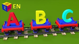 ABC song for baby kindergarten children. Learn alphabet with Choo-Choo the Train