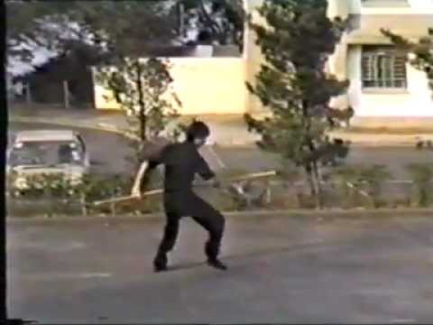 袁康就:蔡李佛龍行棍 1982 Choy Lay Fut Whirling Staff by HC Yuen Image 1