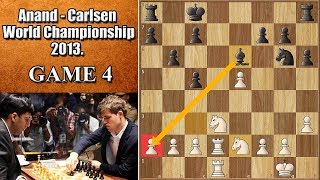 Like Bobby Fischer, Only Better | Anand vs Carlsen 2013. | Game 4