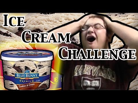 The Ice Cream Challenge *Vomit Warning (Slo-Mo)
