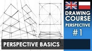 Drawing tutorial - Perspective basics | Kurs rysunku - Podstawy perspektywy [S01E01 ENG/PL]